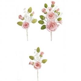Set de 3 Ramos de Rosas Rosas de Azúcar