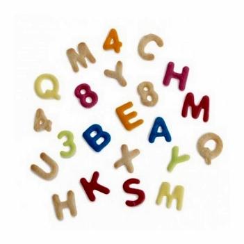 Set de 36 cortadores letras y números pequeños