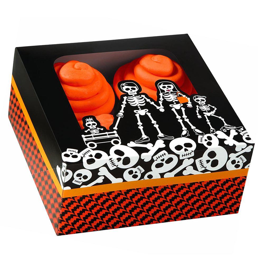 Set de 3 cajas para 4 cupcakes Calavera