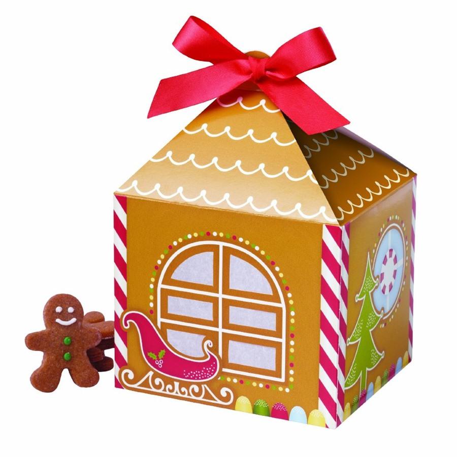 Set de 4 cajas para dulces hombre jengibre