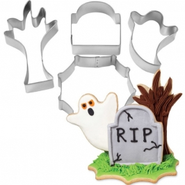 Set de 4 Cortadores 3D Halloween