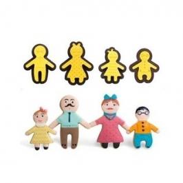 Set de 4 cortadores con texturizador familia Jengibre