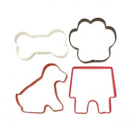 Set de 4 cortadores de galletas mascotas