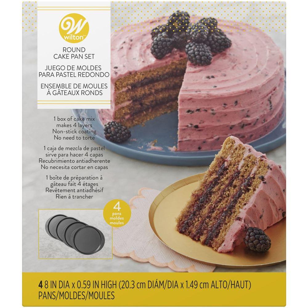 Set de 4 moldes para layers cakes de 20cm