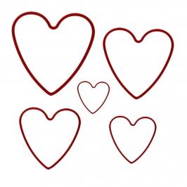 Set de 5 cortadores de Galletas Corazón KC