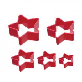 Set de 5 cortadores de galletas Estrella