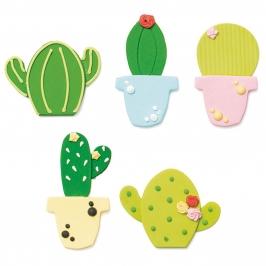 Set de 5 Decoraciones de Azúcar Cactus