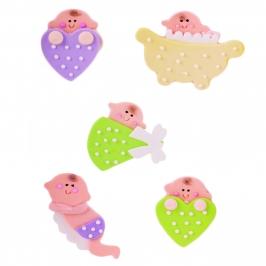 Set de 5 figuras de azúcar Baby Shower - My Karamelli