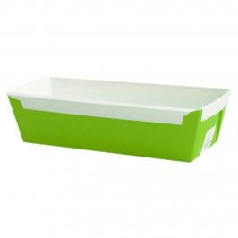 Set de 5 moldes de papel rectangular color verde 17x8x5cm