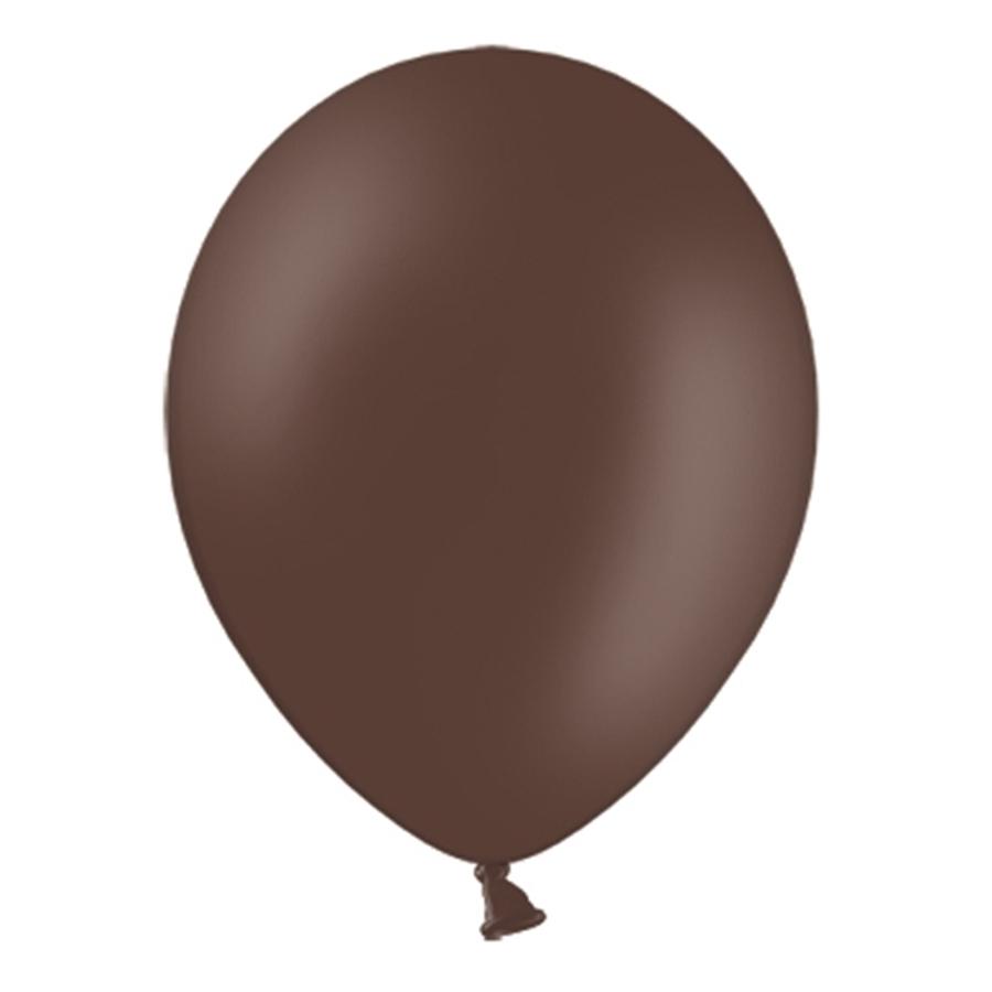 Set de 50 globos color Marrón chocolate pastel