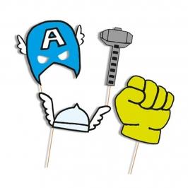 Set de 6 accesorios para photocall de Los Vengadores