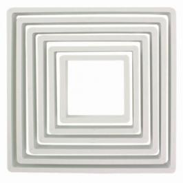 Set de 6 cortadores cuadrados PME