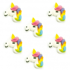 Set de 6 Decoraciones de Azúcar Unicornios