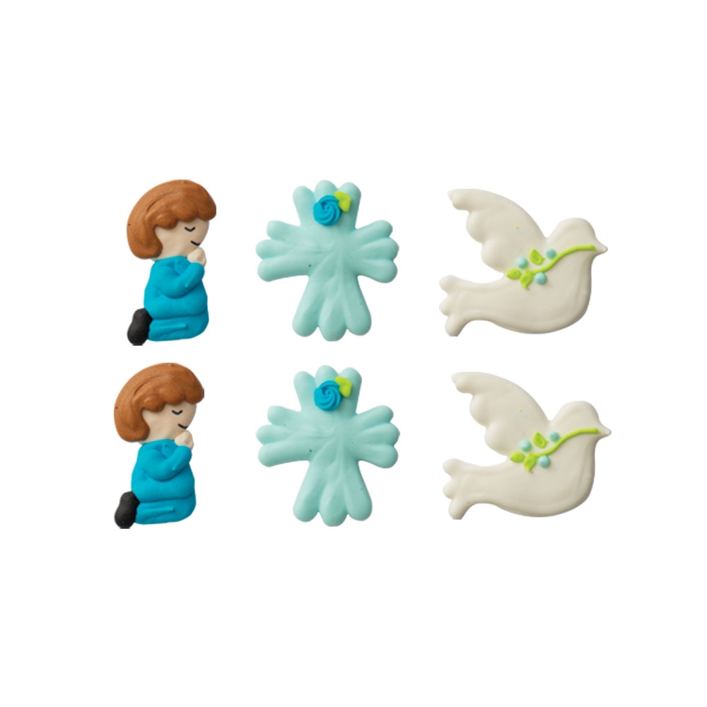 Set de 6 figuras de Azúcar Comunión Niño