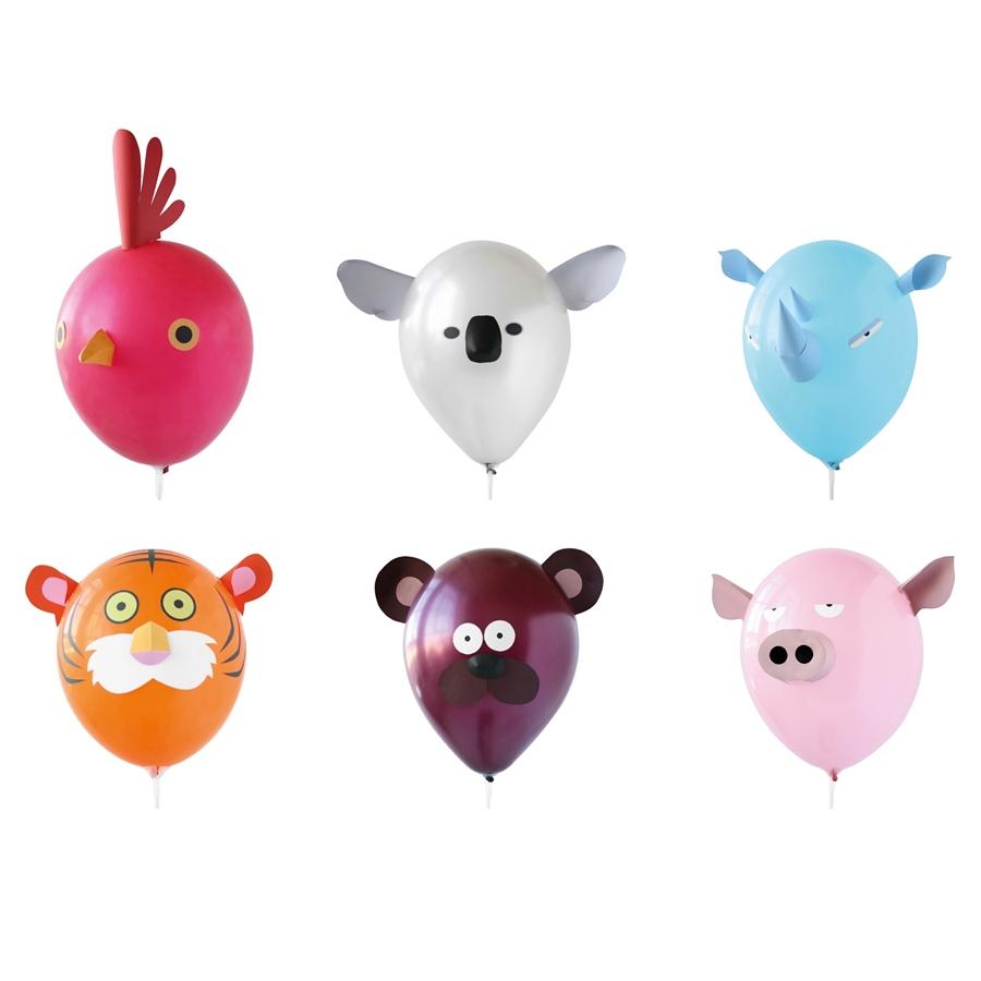 Set de 6 Globos animales