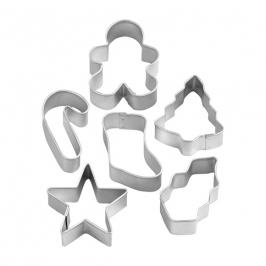 Set de 6 mini cortadores de Navidad