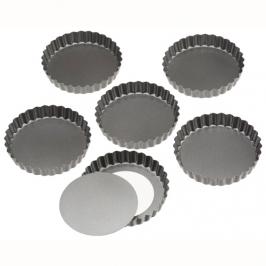 Set de 6 moldes redondos tarta y quiche 10cm