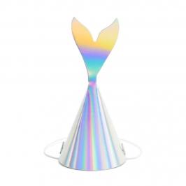 Set de 6 sombreros de sirena iridiscentes