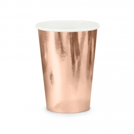 Set de 6 vasos en color rose gold de 220 ml