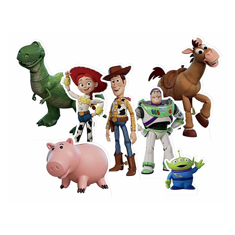 Set de 7 figuras de Toy Story para decorar mesas dulces