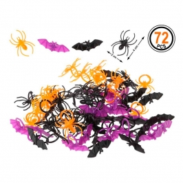 Set de 72 Bichos Decorativos Halloween
