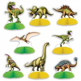 Decoración para Mesas Dinosaurios 8 unidades