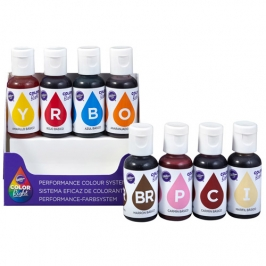Set de 8 colorantes en gel Colores Perfectos