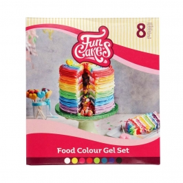 Set de 8 Colorantes en Gel Funcolors de Funcakes