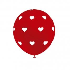 Set de 8 Globos Corazón Cool Rojos 30 cm