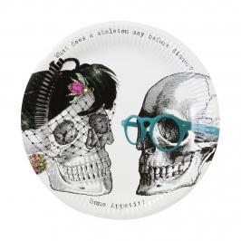 Set de 8 platos esqueleto