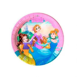 Set de 8 Platos Princesas Disney 20cm