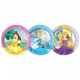 Set de 8 Platos Princesas Disney Heart 22 cm