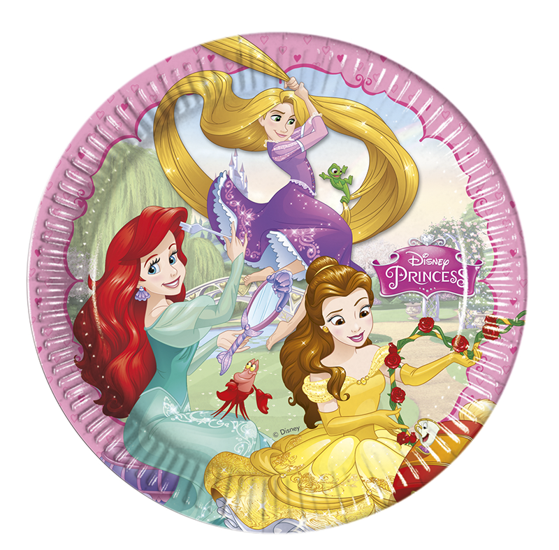 Set de 8 Platos Princesas Disney 23 cm