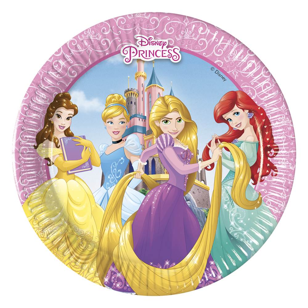 Set 8 Platos Princesas Disney Heart 19 cm | My Karamelli