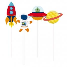 Set de 8 Toppers Largos Astronauta