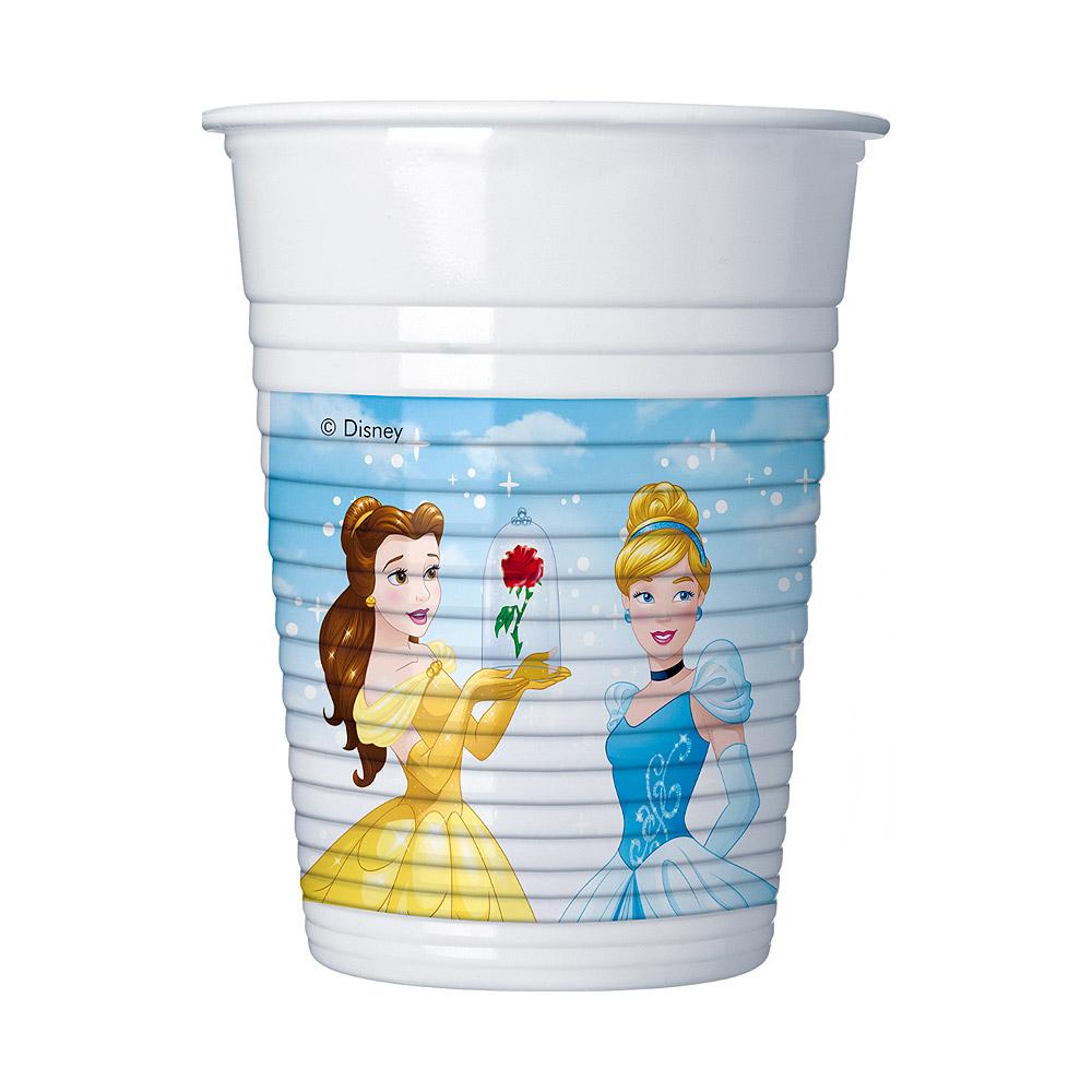 Set de 8 Vasos de Plástico Princesas Disney Modelo C