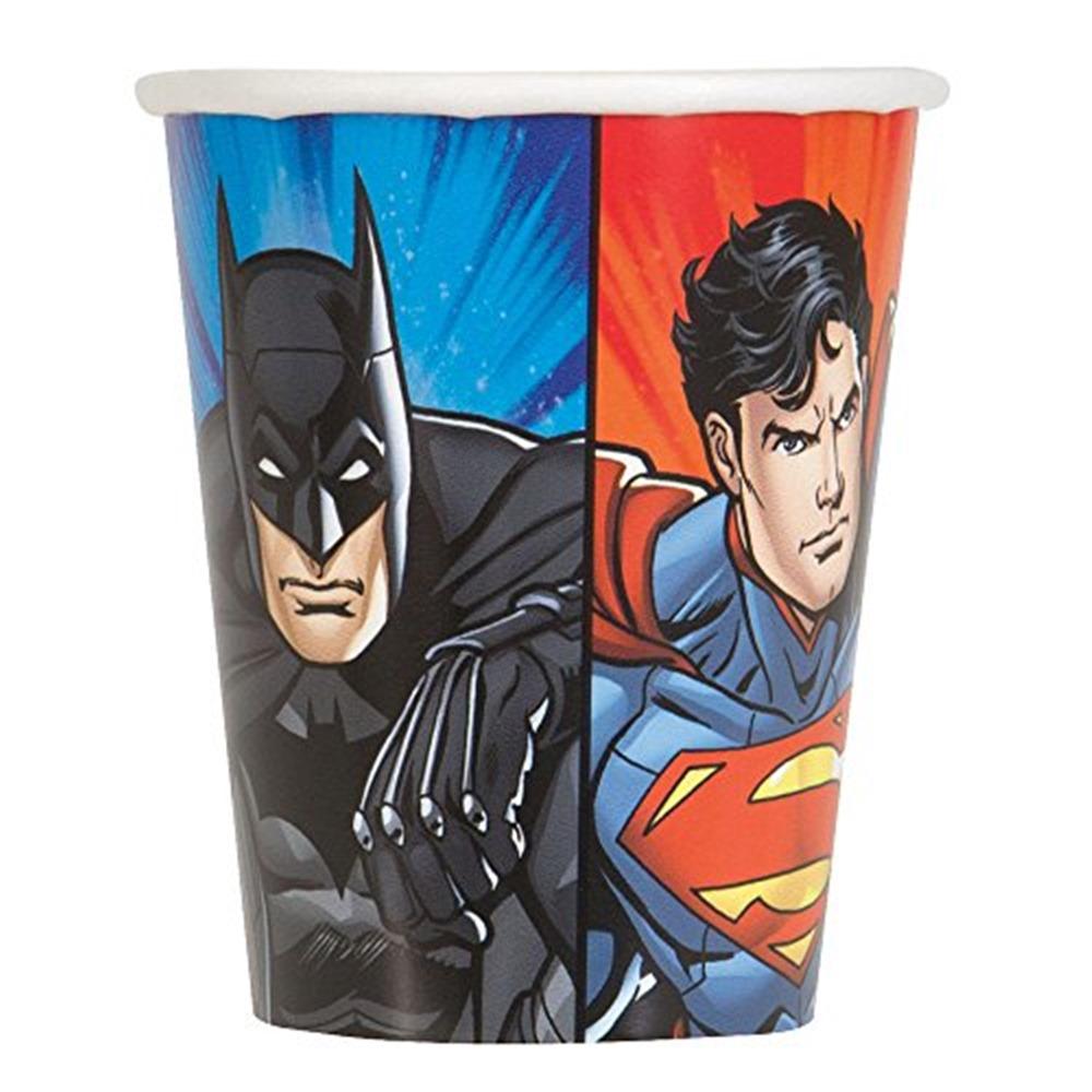 Set de 8 Vasos Liga de la Justicia