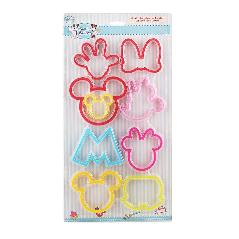 Set De 9 Cortadores Plástico Mickey Mouse My Karamelli