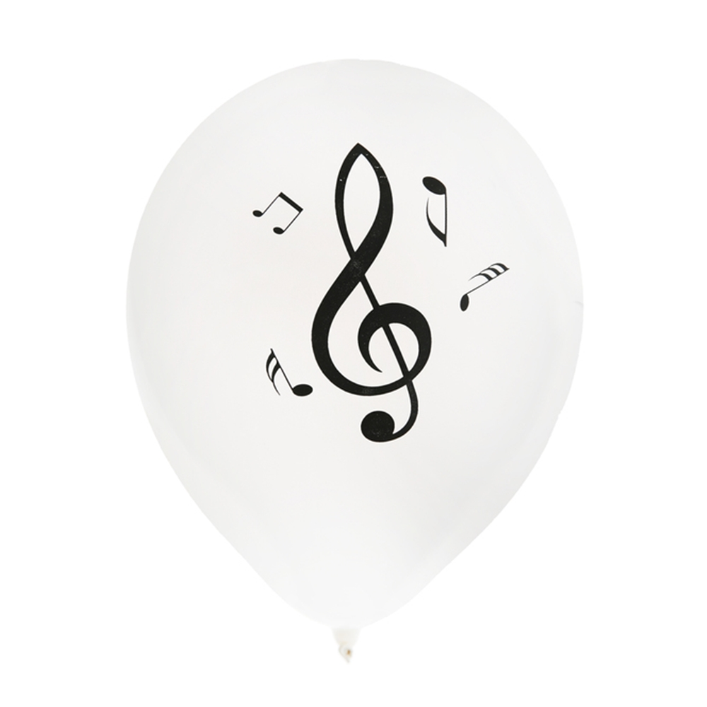 Juego De 8 Globos Notas Musicales 23 Cm My Karamelli