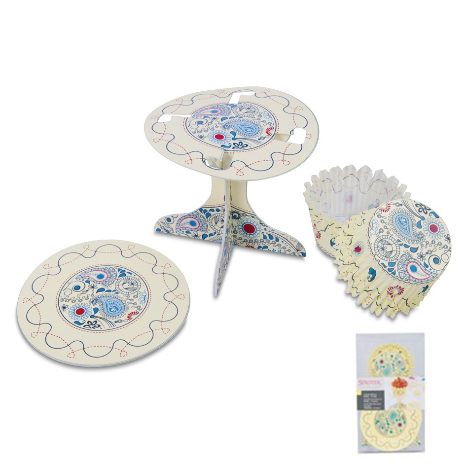 Set decoración de cupcakes Paisley