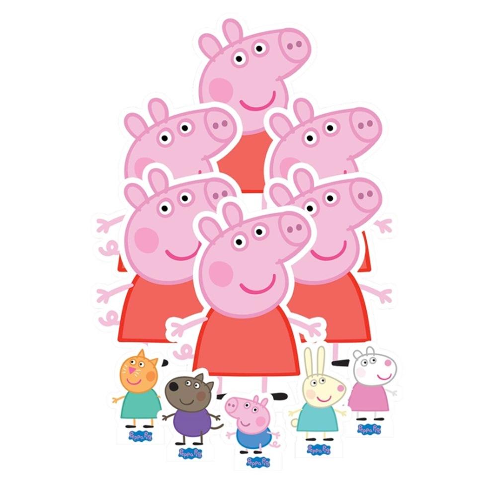 Set para decoración de Mesas Dulces Peppa Pig 11 piezas