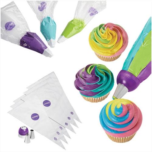 Set para decoración tricolor Wilton