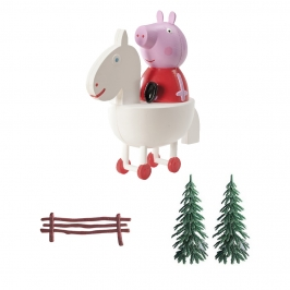 Set para decorar tartas de Peppa Pig 4 piezas