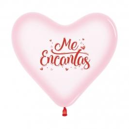 Set de 12 Globos Corazón Me Encantas 30 cm