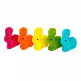 Juego de 5 Mini Conejos de Colores 6 cm