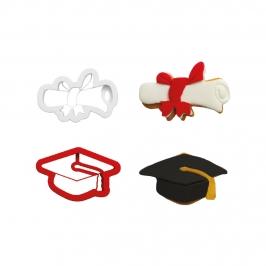Set de 2 Cortadores con Texturizador Graduación