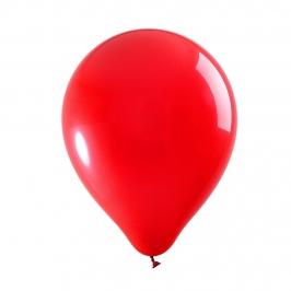 Set de 100 Globos Rojo Mate 30 cm