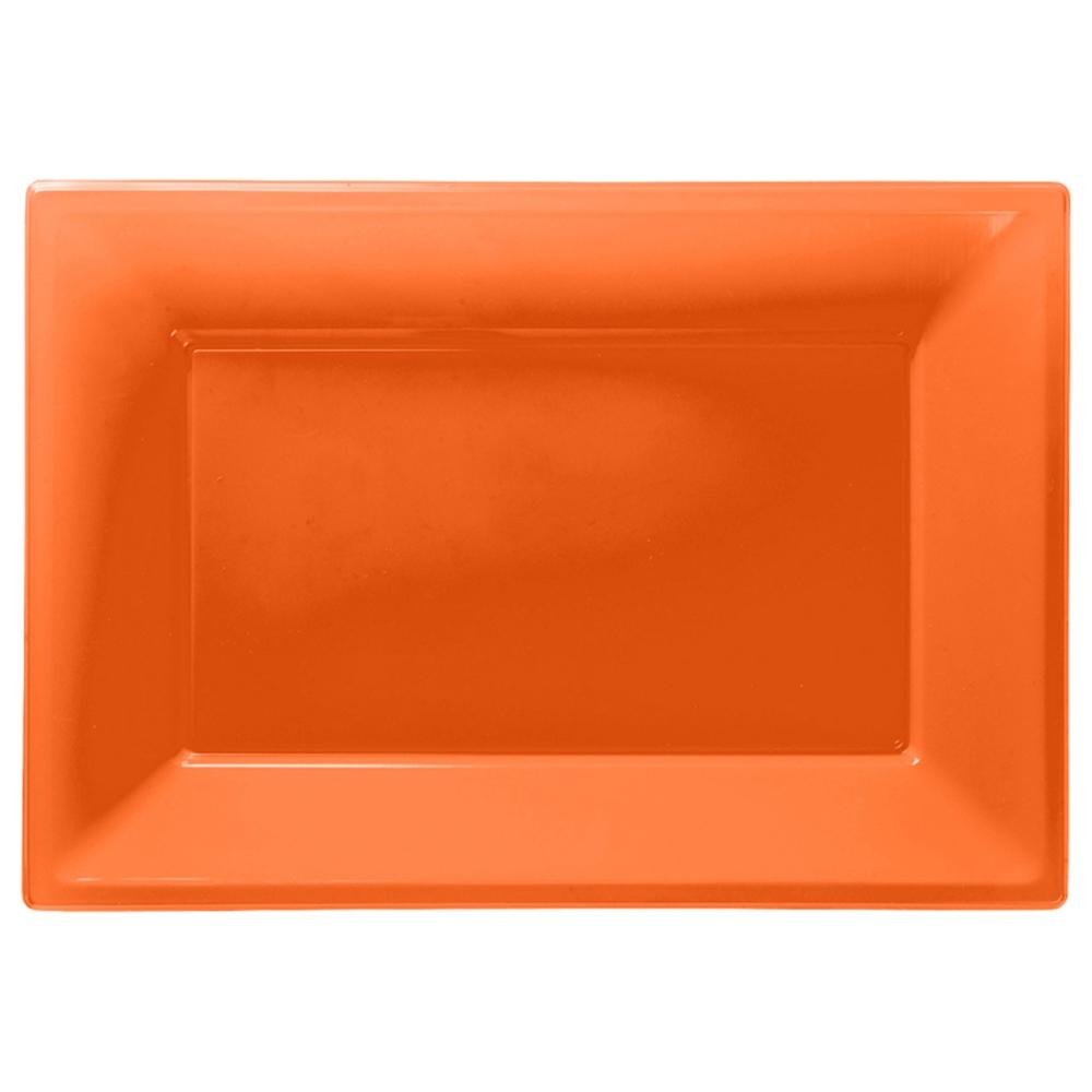 Set de 3 Bandejas Naranjas 33 cm x 23 cm