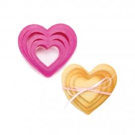 Cortadores con Forma de Corazón 4 ud.
