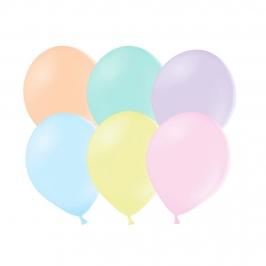 Set de 50 Globos Colores surtidos Pastel 23 cm